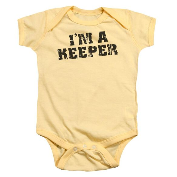 Im A Keeper Infant Snapsuit Banana Lg