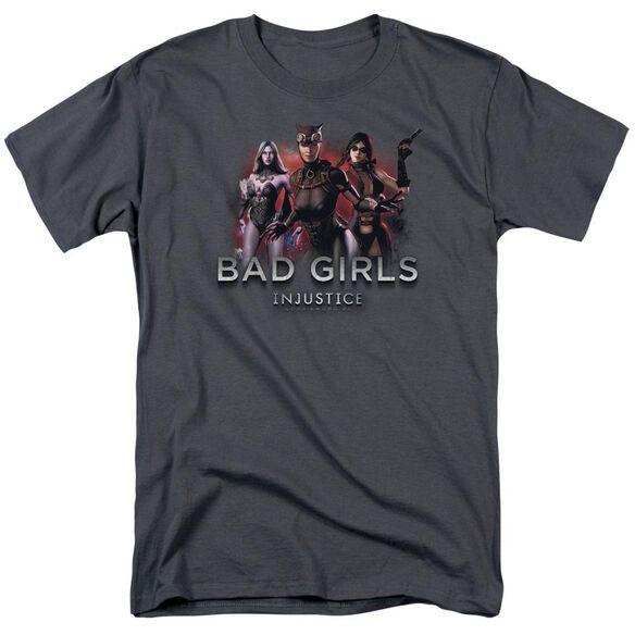 Injustice Gods Among Us Bad Girls Short Sleeve Adult Charcoal T-Shirt