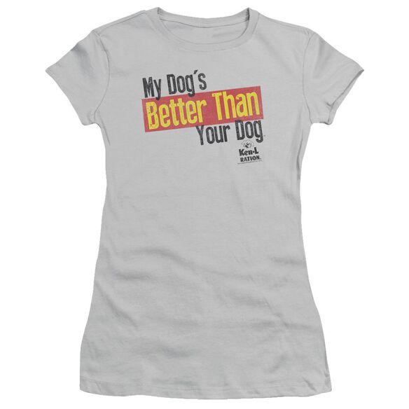 Ken L Ration Better Than Short Sleeve Junior Sheer T-Shirt