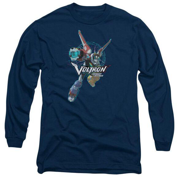 Voltron Defender Pose Long Sleeve Adult T-Shirt
