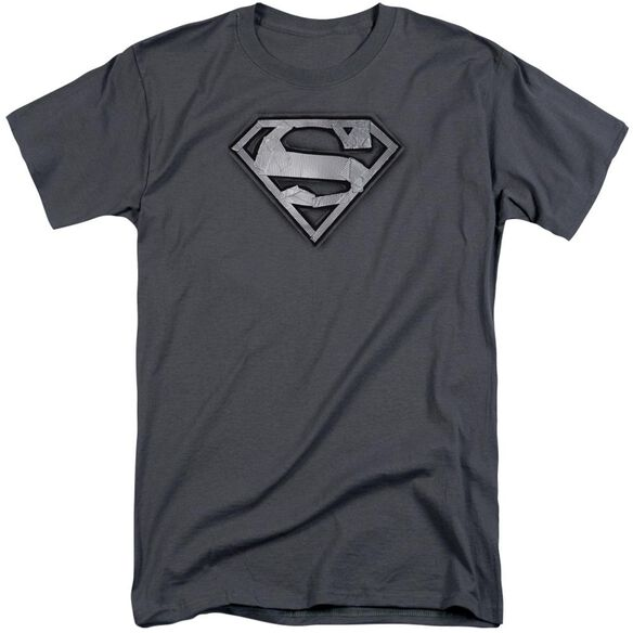 Superman Duct Tape Shield Short Sleeve Adult Tall T-Shirt