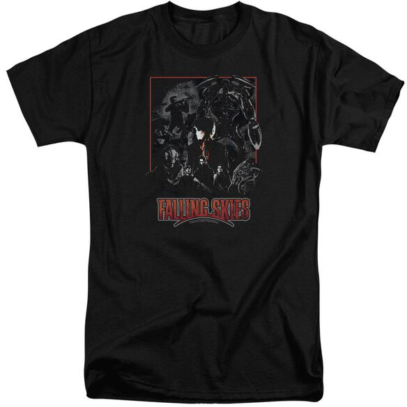 Falling Skies Collage Short Sleeve Adult Tall T-Shirt