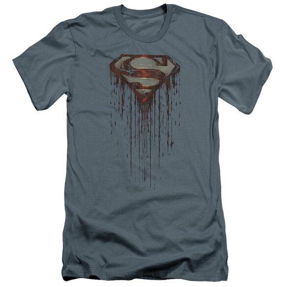 Superman Shield Drip Premuim Canvas Adult Slim Fit
