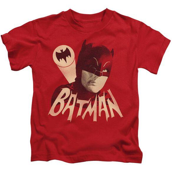 Batman Classic Tv Bat Signal Short Sleeve Juvenile Red T-Shirt