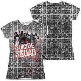 Suicide Squad Squad Splatter (Front Back Print) Short Sleeve Junior Poly Crew T-Shirt