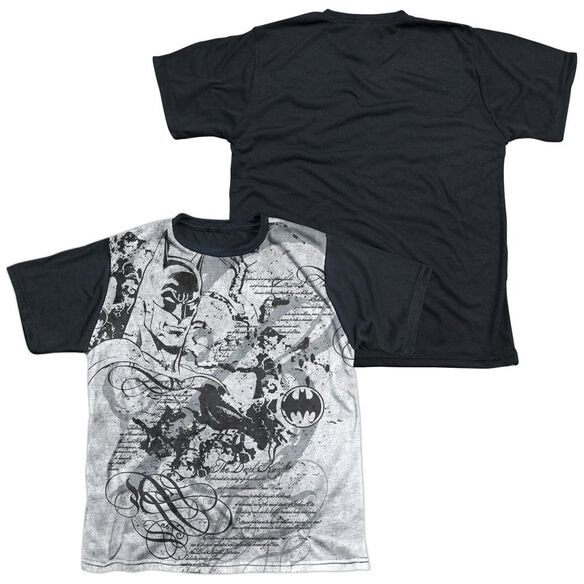 Batman Tale Of The Dark Knigth Short Sleeve Youth Front Black Back T-Shirt