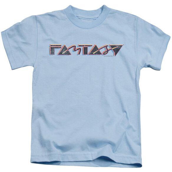 Fantasy Fantasy 80 S Short Sleeve Juvenile Light Blue T-Shirt