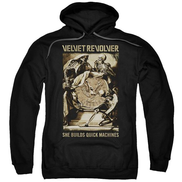 Velvet Revolver Quick Machines Adult Pull Over Hoodie Black
