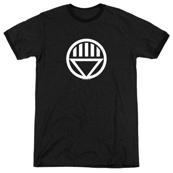 Green Lantern Black Lantern Logo - Adult Heather Ringer - Black
