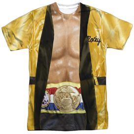 Rocky Yellow Robe Short Sleeve Adult Poly Crew T-Shirt