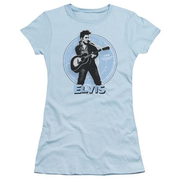 Elvis 45 Rpm Short Sleeve Junior Sheer Light T-Shirt