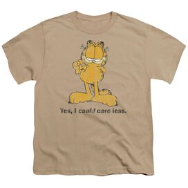 GARFIELD YES I COULD CARE LESS - S/S YOUTH 18/1 - SAND T-Shirt