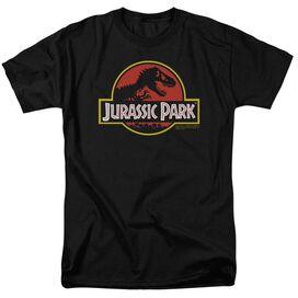 Jurassic Park Classic Logo Short Sleeve Adult T-Shirt