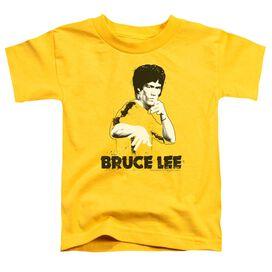 Bruce Lee Suit Splatter Short Sleeve Toddler Tee Yellow Lg T-Shirt