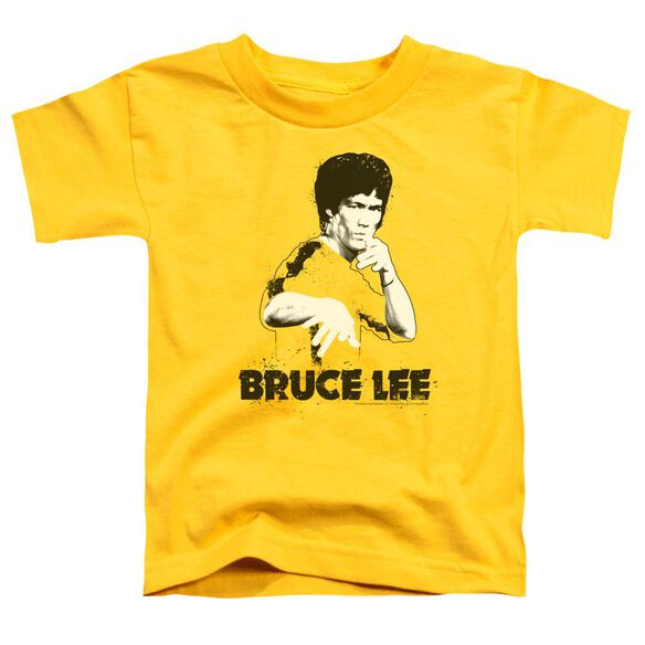 Bruce Lee Suit Splatter Short Sleeve Toddler Tee Yellow Lg T-Shirt