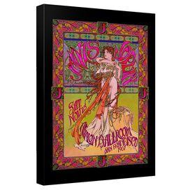 Janis Joplin Janis Ballroom Poster Canvas Wall Art With Back Board