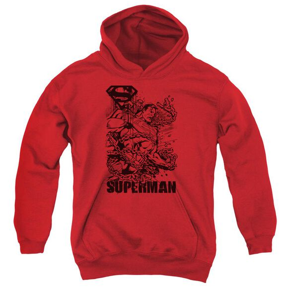 Superman Breaking Chains Youth Pull Over Hoodie