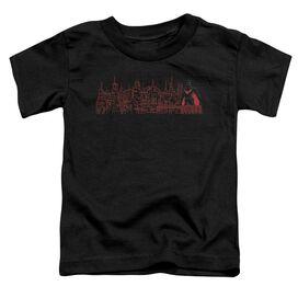 Batman Beyond Neo Gotham Skyline Short Sleeve Toddler Tee Black Sm T-Shirt