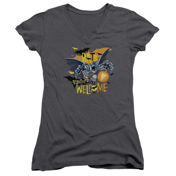 Batman Bats Welcome Junior V Neck T-Shirt