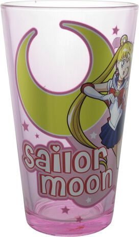 Sailor Moon Usagi Tsukino Wink Pink Pint Glass