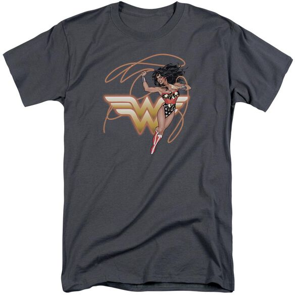 Jla Glowing Lasso Short Sleeve Adult Tall T-Shirt