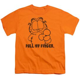 Garfield Pull My Finger Short Sleeve Youth T-Shirt