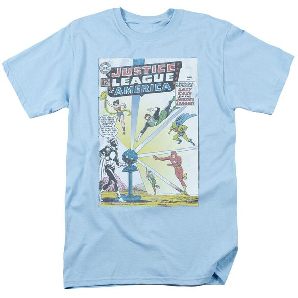 Jla Vintage Cover 12 Short Sleeve Adult Light T-Shirt