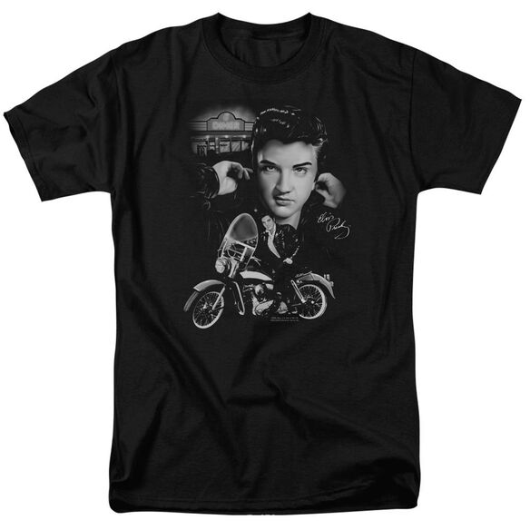 Elvis The King Rides Again Short Sleeve Adult T-Shirt