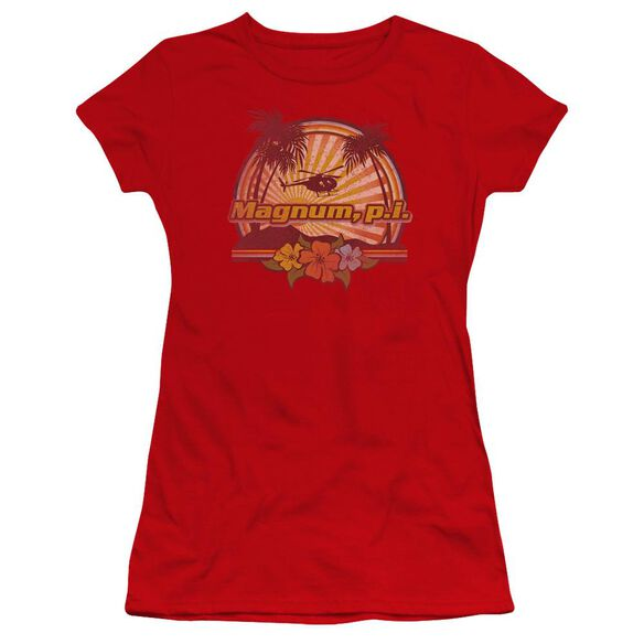 Magnum Pi Hawaiian Sunset Premium Bella Junior Sheer Jersey