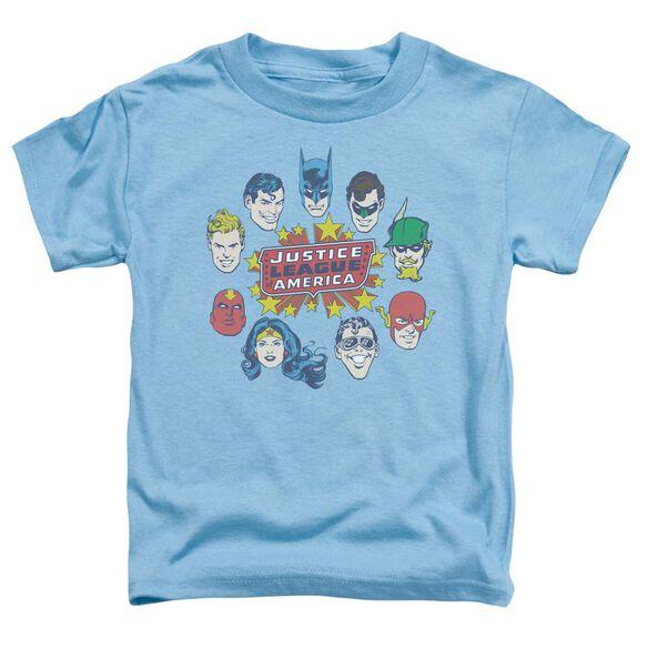 Dc Justice Head Circle Short Sleeve Toddler Tee Carolina Blue Sm T-Shirt