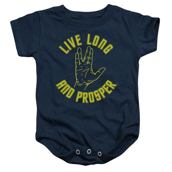Star Trek Live Long Hand Infant Snapsuit Navy Md