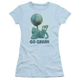 Gumby Go Green Short Sleeve Junior Sheer Light T-Shirt