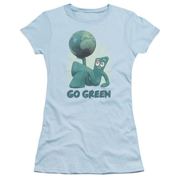 Gumby Go Green Short Sleeve Junior Sheer Light T-Shirt