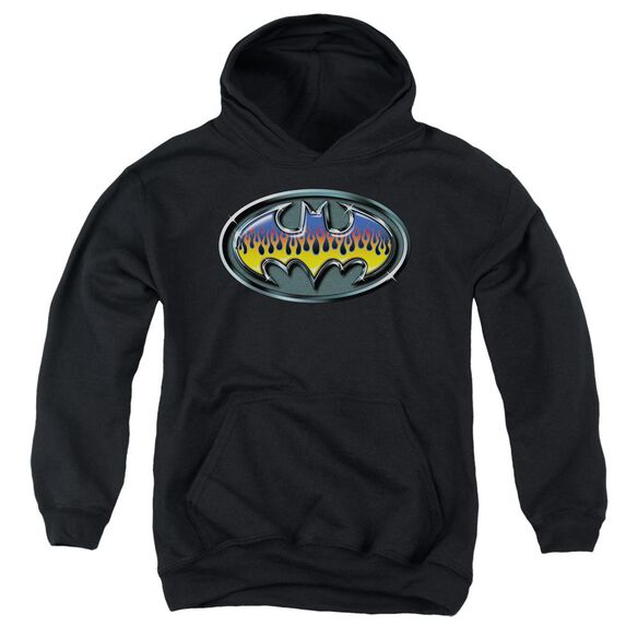 Batman Hot Rod Shield Youth Pull Over Hoodie
