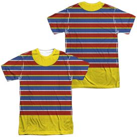 Sesame Street Ernie Costume (Front Back Print) Short Sleeve Adult Poly Crew T-Shirt