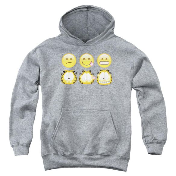Garfield Emojis Youth Pull Over Hoodie Athletic
