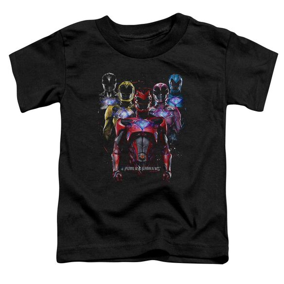 Power Rangers Team Of Rangers Short Sleeve Toddler Tee Black T-Shirt