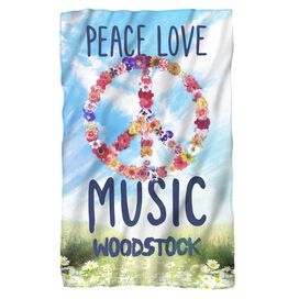 Woodstock Open Love Fleece Blanket