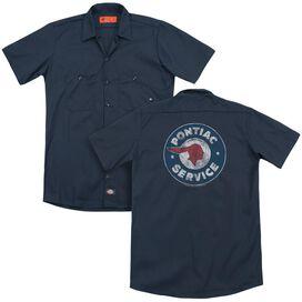 Pontiac Vintage Pontiac Service (Back Print) Adult Work Shirt