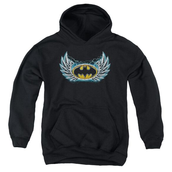 Batman Steel Wings Logo Youth Pull Over Hoodie