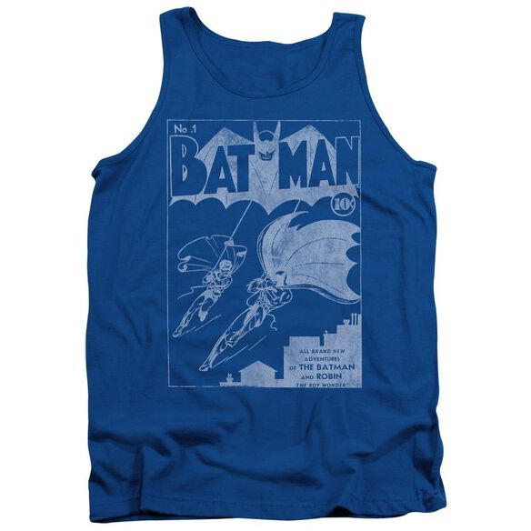 Batman Issue 1 Cover - Adult Tank - Royal Blue