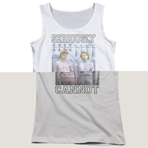 I Love Lucy Seriously Cannot Juniors Tank Top