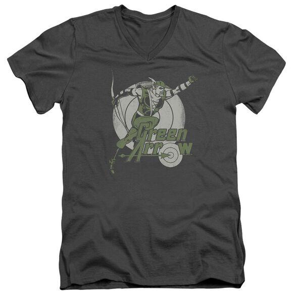 Dc Right On Target Short Sleeve Adult V Neck T-Shirt