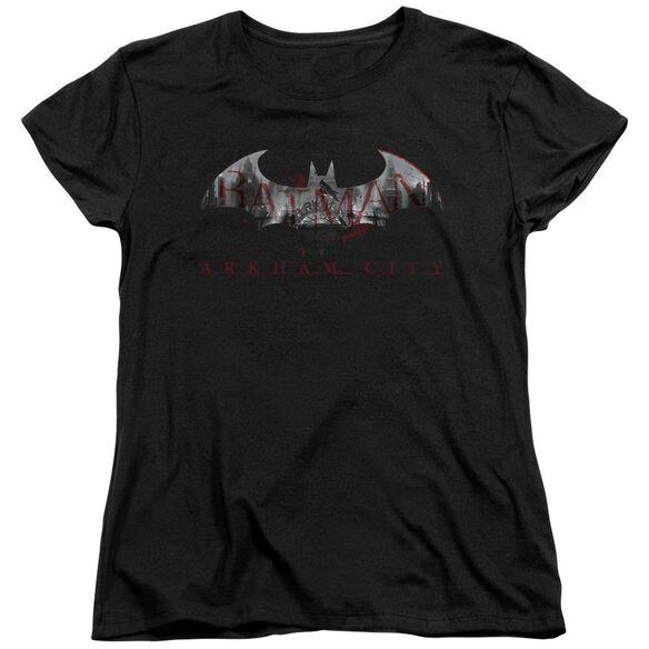 Arkham City Bat Fill Short Sleeve Women's Tee T-Shirt
