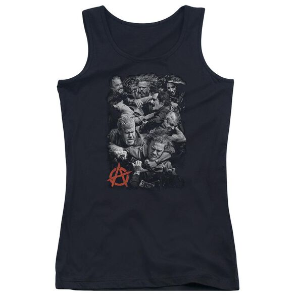 Sons Of Anarchy Group Fight Juniors Tank Top