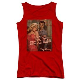 Cry Baby Kiss Me - Juniors Tank Top - Red