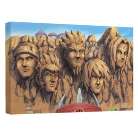 Naruto Shippuden Hokage Rock Canvas Wall Art With Back Board