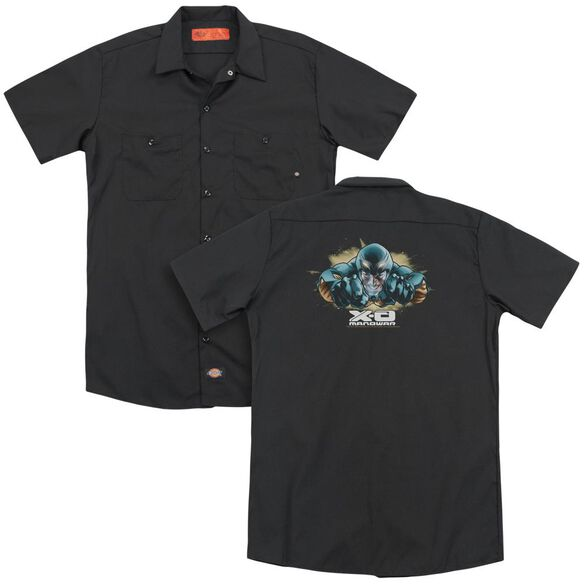 Xo Manowar Xo Fly(Back Print) Adult Work Shirt
