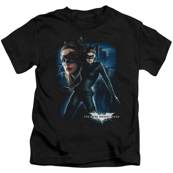 Dark Knight Rises Catwoman Short Sleeve Juvenile Black T-Shirt