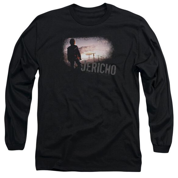 JERICHO MUSHROOM CLOUD - L/S ADULT 18/1 - BLACK T-Shirt